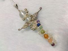 天使の羽 チャクラワンドペンダント