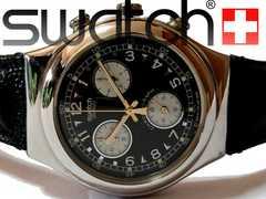 良品 1スタ★スウォッチ/Swatch【スイス製クロノグラフ】腕時計