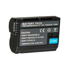 NIKON ニコン EN-EL15 互換バッテリー D7000 D800 D500 a