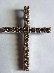 ダイヤ0.50ct k14金ペンダント クロス ホワイトゴールドWG23�o
