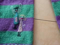 ホコモモラ可愛い刺繍カーデ