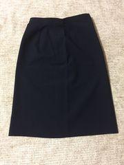 192,新品☆ひざ丈タイトスカート☆紺/ネイビー☆サイズL