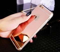新品☆即決 iPhone 6plus 6sPlus 鏡面TPUケース ローズゴールド