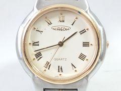 9123/AUREOLEオレオーレ★コンビ仕様メンズ腕時計アイボリーダイヤル格安