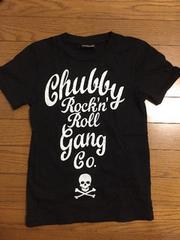 CHUBBYGANG/チャビーギャング★黒スカルロゴTシャツXS140cm美品