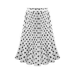 新品大きいサイズ4L17号エレガント水玉シフォンロングスカート