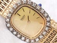 4288/RADOラドー定価10万円位ベゼルダイヤ高級レディース腕時計格安
