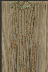 ATELIERMEIKU 水色花柄ノースリーブワンピース