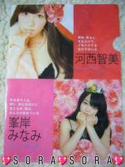 【AKB48・河西智美/峯岸みなみ】2011年カレンダー特典上質クリアファイル