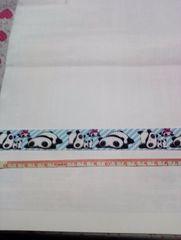【水色】23mm巾 ぱんだ柄リボン1M