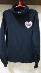 ジェニィ/JENNI☆ハイネック長袖Tシャツ☆150・黒
