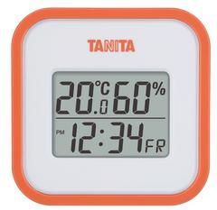 タニタ デジタル温湿度計 マグネット付 オレンジ