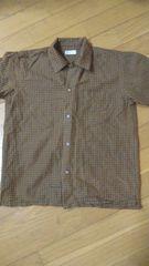 150�p茶系チェックシャツ��1268