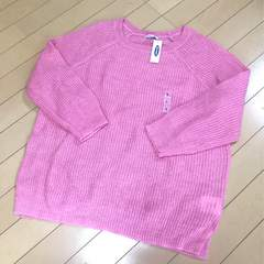 新品◆オールドネイビー◆可愛いピンクニット◆セーター◆L