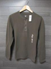 □GAP/ギャップ ミリタリーヘンリー ロング Tシャツ/メンズ・XS/カーキ☆新品