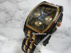 新品★腕時計 ブラック クロノグラフ風/フランクミュラー好き
