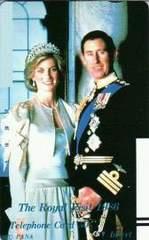貴重!英国(イギリス)王室チャールズ皇太子ダイアナ妃テレカ  A