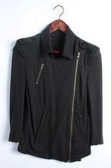 LGBルグランブルー スウェット七分袖ライダースジャケット