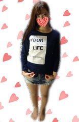 U41☆両面プリント☆人生ゎアート☆長袖Tシャツ