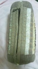 ハンドメイド 筒型布製ポーチ