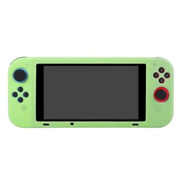 Nintendo Switch専用 シリコン ソフトケース グリーン