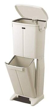 ベージュ 天馬 ペダル式ごみ箱 幅32奥行30高さ82cm イーラボホー