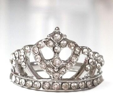 新品[7870](22号)王冠クラウンリング/指輪/色シルバー