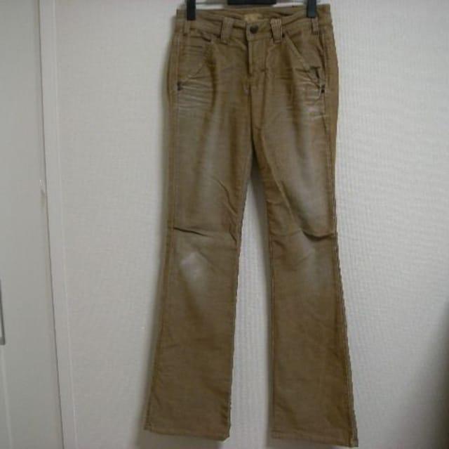 ヤヌーク コーデュロイ 色落ちパンツ 25  < 女性ファッションの