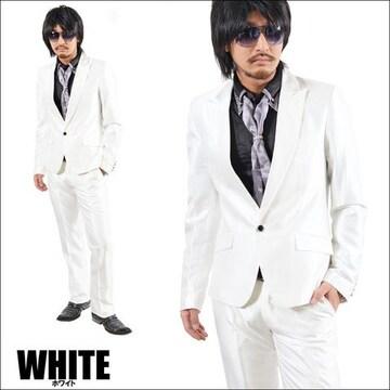 1Bシャンブレースーツ新品ホワイトS