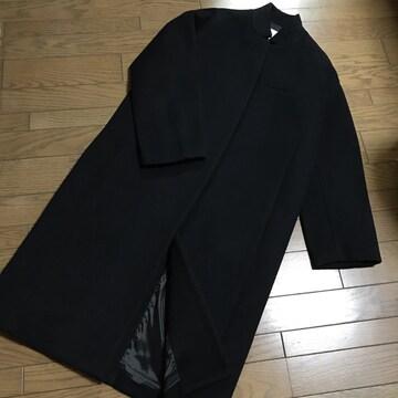 ルシェルブルー 黒ソフトメルトンチェスターバルーンコート