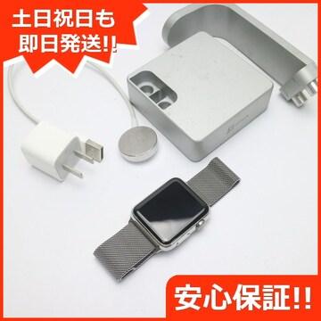 ●安心保証●美品●Apple Watch 42mm ステンレス●