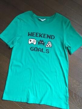 H&M☆WEEKEND GOALプリントTシャツ・新品