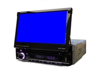7インチタッチパネル1DIN DVDプレイヤーバックカメラ