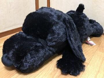 ■SNOOPY/スヌ-ピ-*寝そべり超BIGぬいぐるみ☆70�p*ブラック■