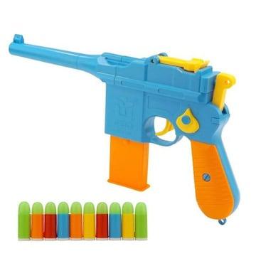 トイ ガン ピストル サバゲー おもちゃ 鉄砲 ソフト ゴム 弾