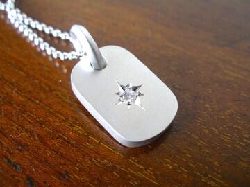 仁尾彫金『一つ星ダイヤプレート2.6mm』ハンドメイド129b