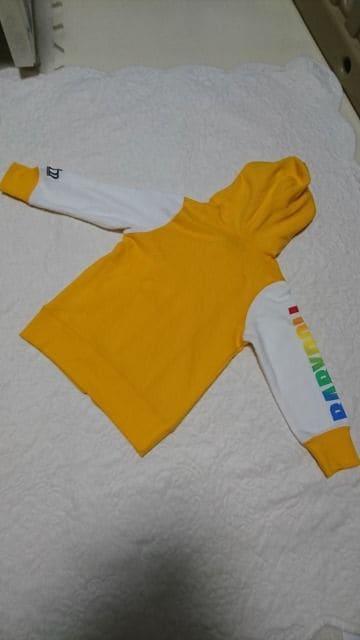 ★BABY DOLL★黄色×白★シンプルパーカー★美品90 < ブランドの