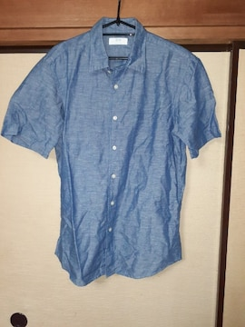 ユニクロ【中古未使用】L 半袖カジュアルシャツ