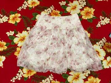 レストローズ☆清楚可愛い上品バラのふんわりスカート☆