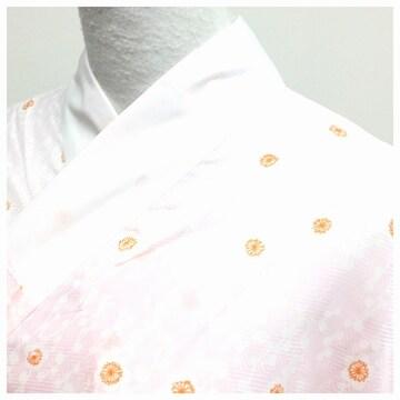化繊 小花 薄いピンク 長襦袢 単衣仕立て 身丈132 裄64 中古品
