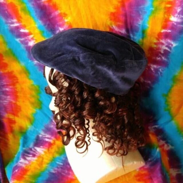 トレンド♪カジュアルstyle♪ベロアハンチング帽子◆男女兼用◆  < 女性ファッションの