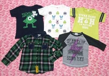 子供服5点セット/Tシャツ/チェックシャツ/ユニクロ/100cm〜