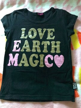 ♯EARTHMAGIC♯可愛ラメプリTシャツ140バクプリアースロニィジディ