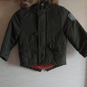 100サイズ フード付きジャンパー ジャケット 上着 ジャンバー