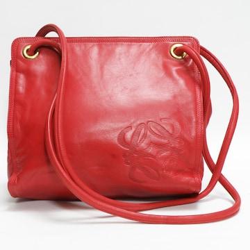 LOEWEロエベ ショルダーバッグ 赤 ヴィンテージ 良品 正規品
