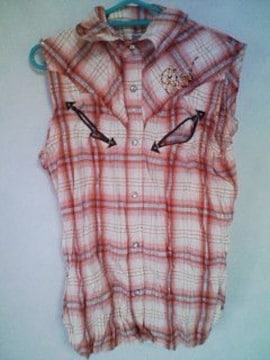 Aー113★新品★スパンコールシャツ ピンク  M
