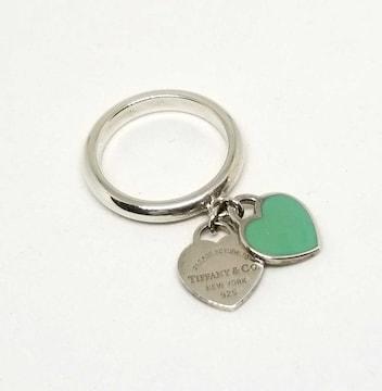 正規美品ティファニー指輪9号リングリターントゥハートダフ
