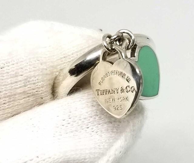 正規美品ティファニー指輪9号リングリターントゥハートダフ < ブランドの