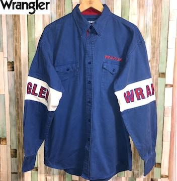 wrangler western ドロップショルダー ビッグシルエット シャツ