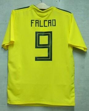 新品☆ファルカオ☆コロンビア代表☆黄色M9番半袖N☆ASモナコ